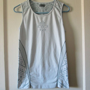 Athelta tank geometric activewear patterned gray